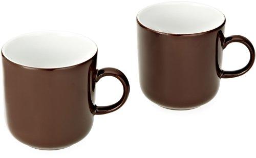 Kahla 47A180A72605C Kaffeebecher-Set 2-teilig Pronto, Schokobraun