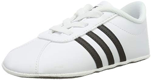 adidas Unisex Baby VL Court 2.0 Crib Hausschuhe, Weiß (Ftwbla/Negbás/Ftwbla 000), 20 EU