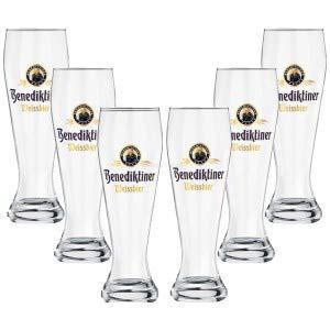 Benediktiner witbier tarwe bierglas glazen set - 6X witte bier glazen 0,3l geijkt