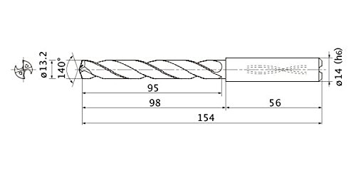 Mitsubishi Free shipping Fashion on posting reviews Materials MMS1320X5DB MMS Solid Series Carbide Drill