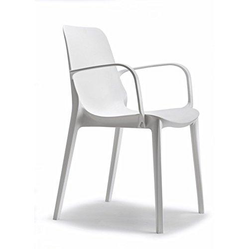 Scab Design Stuhl Genf mit Armlehnen, 4-teilig
