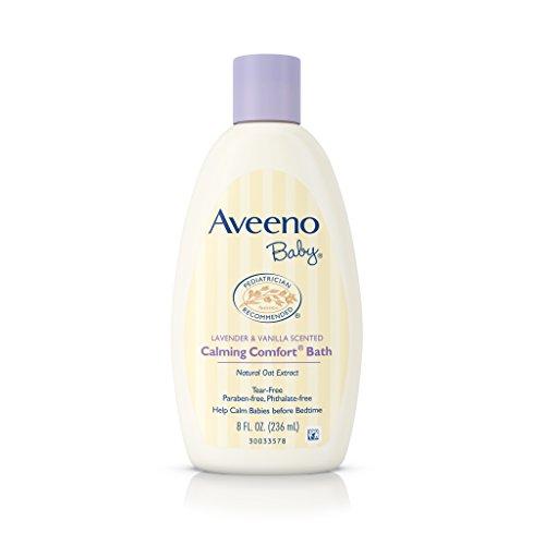 Aveeno Baby Calming Comfort Bath Wash, Tear Free, Lavender & Vanilla, 8 Fl. Oz. (Pack of 6)