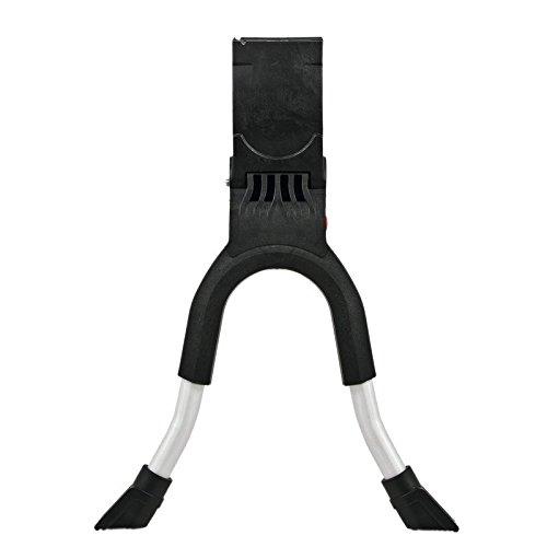 Hebie Unisex– Erwachsene Zweibeinständer-2260364200 Zweibeinständer, schwarz/Silber, Einheitsgröße