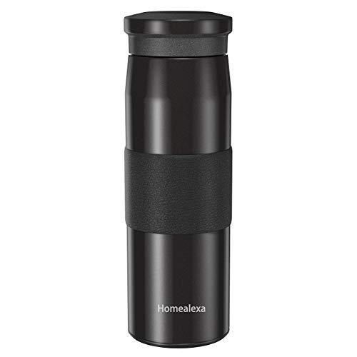 Homealexa 500ml Travel Mok Koffiekopjes Waterfles Stofzuiger Isolerende Beker 304 Roestvrijstaal