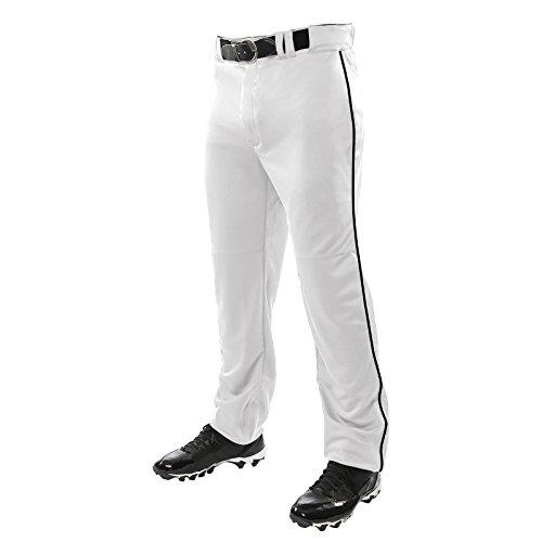 Champro Jungen BP91UYBPXS Baseball-Uniform Hose, Weiß/Schwarz, XS