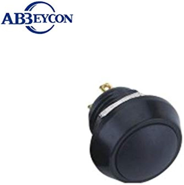 5pcs Lot IB 1215 Domed Metal Material Plastic Head momentary Waterproof 12mm Black Switch  (color  Black)