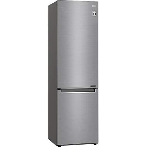 Réfrigérateur combiné inox LG GBB62PZJZN - Réfrigérateur congélateur bas 384 litres - Frigo 277 litres / Congel 107 litres - Technologie Total No Frost - Compresseur Inverter - Très Silencieux 36 dB