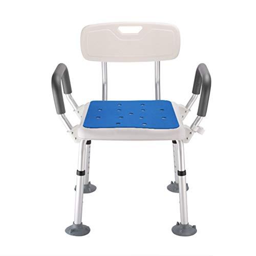 YC Duschhocker mit gepolstertem Sitz - Dusch- und Badesessel mit Rückenlehne und Armlehnen & Hygienedesign, behindertengerechte Duschsitze für Erwachsene