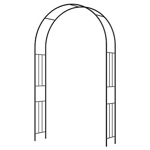 YYHJ Metal Arcos de Jardin,Arco para Enredaderas,Arco de Rosas,pergola jardín Exterior decoración Fiesta de Boda cenador Planta Rosa Escalada