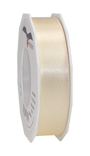 C.E. Pattberg SATIN crème, 25 m Satinband zum Einpacken von Geschenken, 25 mm Breite, Geschenkband zum Dekorieren & Basteln, Dekoband für Präsente, zu jedem Anlass