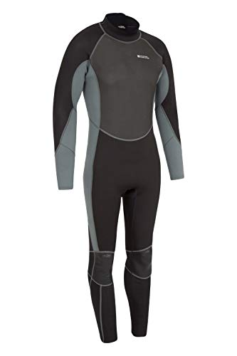 Mountain Warehouse Mens Full Wetsuit - Sculpted Fit, Flat Seams Swimming Wetsuit, Adjustable Neck Closure, Easy Glide Zip Wetsuit - for Surfing, Scuba Diving