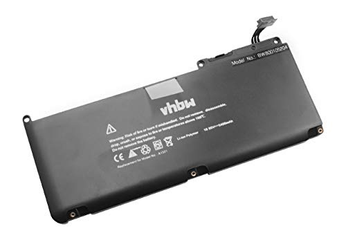 vhbw Batterie 5400mAh (10.95V) pour Notebook MacBook 13\