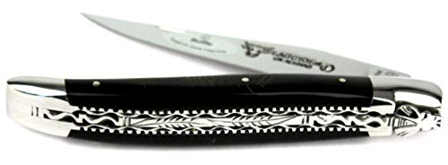 LAGUIOLE en Aubrac Taschenmesser L0712CBIF Doppelplatine, 12 cm, Backen glänzend, Griff Büffelkruste