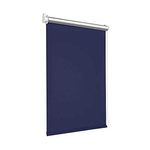 Victoria M. Tenebra Verdunkelungsrollo Thermorollo Rollo ohne Bohren für Fenster und Türen, 145 x 160 cm, dunkelblau