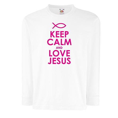 lepni.me Kids T-Shirt Liefde Jezus Christus, Christelijke Religie - Pasen, Opstanding, Geboorte, Religieuze Geschenken Ideeën
