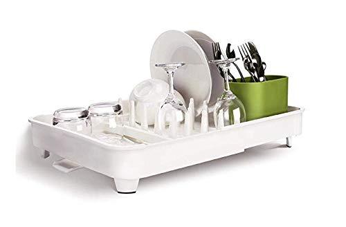 Escurreplatos extensible de los drenadores de plato (white, 52x36cm extendido)