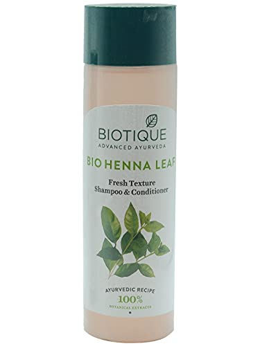 Biotique Henna Leaf Fresh Texture Shampoo and Conditioner, 190m( 6.42 Oz.) l Leaves hair full of natural and shine Deep nourishment of hairs