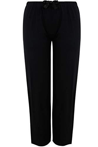 Yours - Black Basic Cotton Pyjama Bottoms - Women's - Plus Size Curve