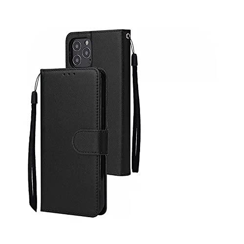 Henraly - Funda tipo cartera para iPhone 12 11 Pro Max iPhone XS Max XR XS X 8 7 6S 6 Plus 5S SE 5 - Negro para iPhone SE 2020
