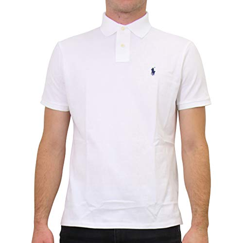 Ralph Lauren Herren Custom-Slim-Fit Poloshirt Weiß 2XL