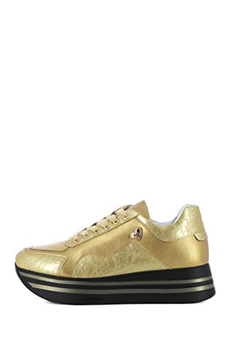 Braccialini U18 Scarpe con Platform e Lacci Donna Gold 36 EU
