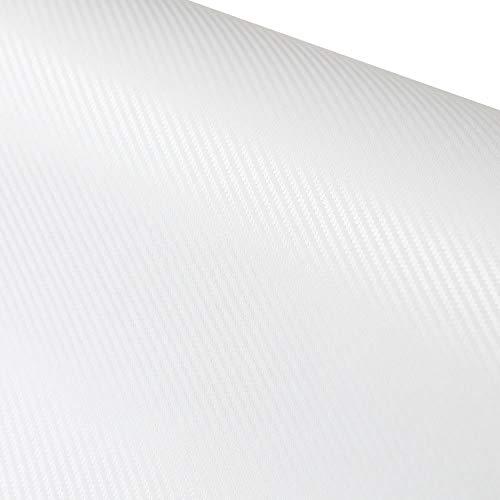 ホワイト 白 約30cm×約5メートル/5m カーボンシート 3D立体構造 ブラック カーボンシール カッティング用シート カーボンシール カーボンフィルム 気泡が入りにくバブルフリー加工 ドライヤーで施工がもっと楽に