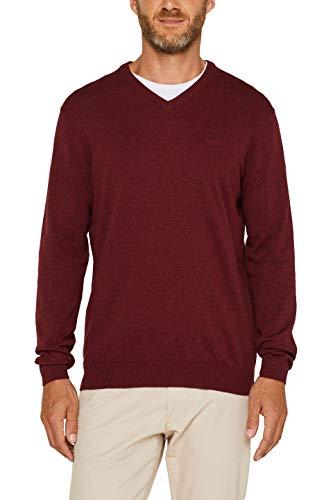 ESPRIT Herren 999Ee2I804 Pullover, Rot (Dark Red 610), Large (Herstellergröße: L)
