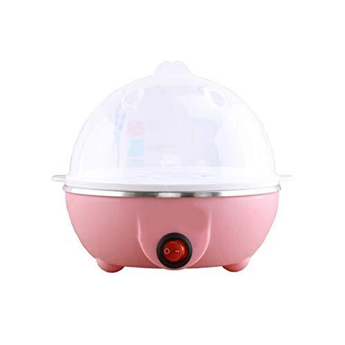 Multifunktions-Elektro-Eierkocher 7 Eier Kapazität Auto-Aus Schneller Eierkessel Dampfgarer Kochwerkzeuge Küchengeräte - Pink