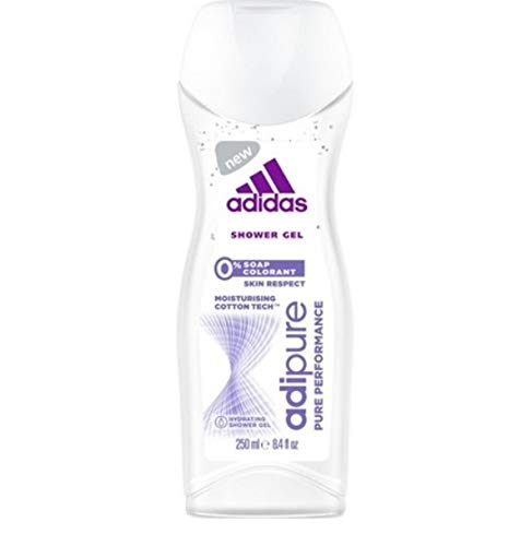 Adidas Women Duschgel - Adipure Pure Performance - 3er Pack (3 x 250 ml)