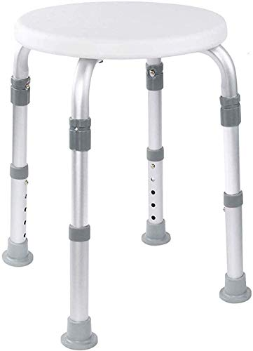 Medical Tool-Free Assembly Adjustable Shower Stool Tub Chair and Bathtub Seat Bench with Anti-Slip...