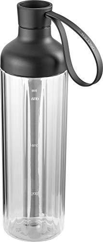 ZWILLING 2in1 Trinkflasche und Mixbehälter, Inkl. Verschluss, Füllmenge: 600 ml, Transparent/Schwarz