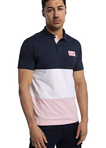 LOIS JEANS - Polo con Corte Tricolor para Hombre   De Algodón   Tallaje en Pulgadas   Talla Inch