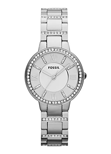 Reloj Fossil Virginia para Mujer 30mm, pulsera de Acero Inoxidable