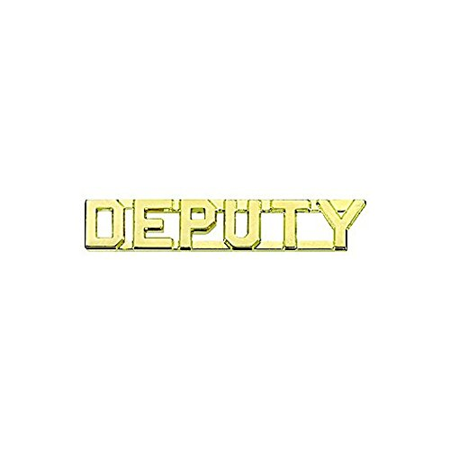 First Class Deputy Collar Lapel Pin Insignia (Pair) - Brass