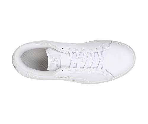 Puma Smash v2 L, Unisex-Erwachsene Sneakers, Weiß (Puma White-Puma White), 44.5 EU (10 UK)