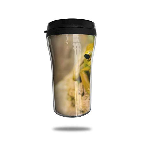 Taza de café de viaje con impresión 3D, taza de té, taza de agua aislada, taza de viaje para hombres, mujeres, niños, niñas, rana verde