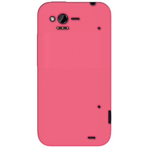 Amzer AMZ92529 Baby Pink Silicone Jelly Skin Fit Cover Case for HTC Rhyme - Retail Packaging - Baby Pink