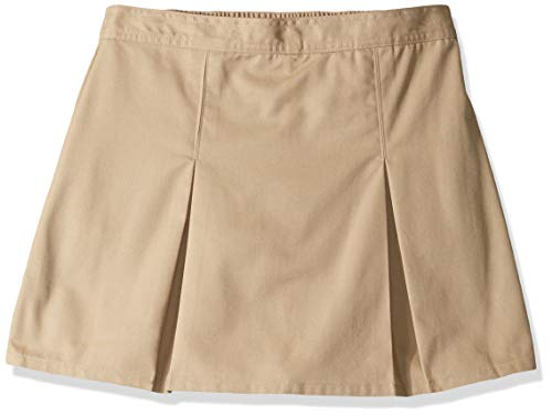 Classroom School Uniforms Girls' Big Plus Size Pleated Scooter, Khaki, 18h