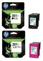 HP Kit 2 Cartucce Originali 301XL (Set 1 Nero + 1 Colore) Alta capacità, Gran Risparmio CH564EE + CH563EE