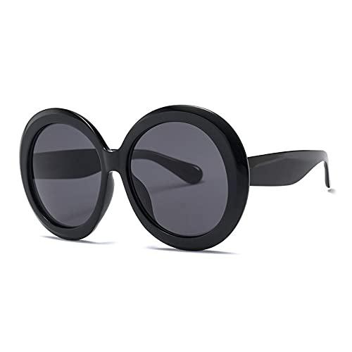 ShSnnwrl Único Gafas de Sol Sunglasses Nuevas Gafas De Sol Redondas De Moda para Mujer, Diseñador Vintage, Negro, Verde, De Gran