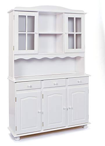 Links 20900815Siena Credenza Madia vaisselier 3ante bianco 43x 130x 198cm