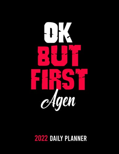 OK,but first Agen: /personalized Monthly Weekly & Daily Schedule Organizer & Planning Agenda 2022 /academic school dayplanners /Calendar|notebook,diary,journal,to do list