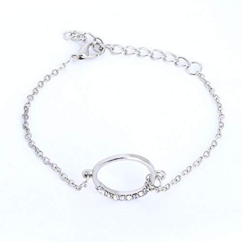 Bracelet 4 Stück/Set Mode Silber Kristall Damen Armbänder Charme Edelstahl Brief Armbänder & Armreifen Argent Female Wedding Jewelry