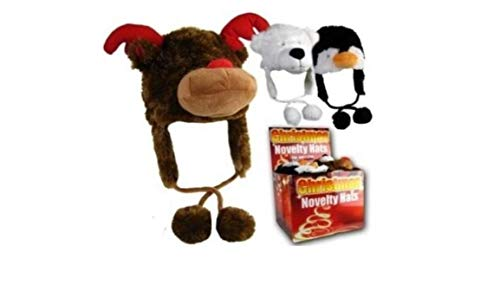Reindeer Rudolph Girls/Boys Christmas Novelty Fur Animal Hat One Size (Bonnet/Chapeau)