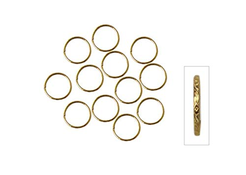 Darice Gold Wedding Rings: Scroll Pattern, 0.75 inches, 144 Pack Party Favor