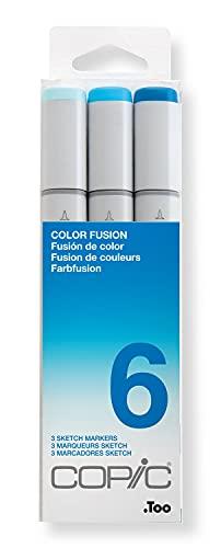 COPIC Sketch-Rotulador Color Fusion marcadores, cscf 6, 3Unidades