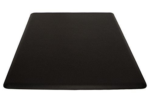 """IC Urethane 5' x 4' x 3/4"""" Anti-Fatigue Salon Barber Rectangular Mat NO Depression In BLACK, FREE Cutting Cape ($26 value). BEST Mat in the Industry!"""