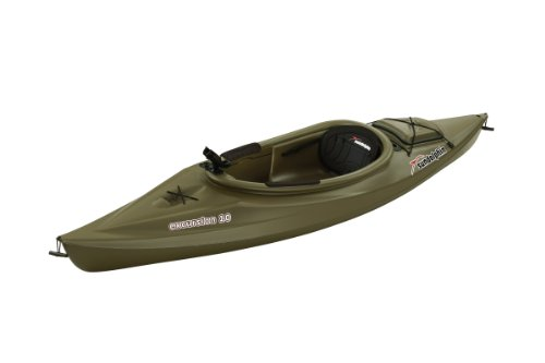 SUNDOLPHIN Sun Dolphin Excursion Sit-in Fishing Kayak (Olive, 10-Feet)