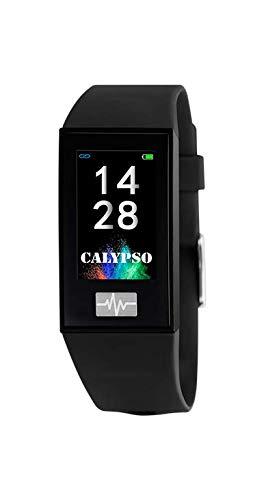 CALYPSO Reloj Modelo K8500/7 de la colección SMARTWATCH, Caja de 23,80/41,60 mm Digital con Correa de Caucho Multicolor para Caballero