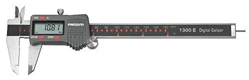 FACOM SC.1300E Pied à coulisse digital pour mesure Intérieure/Extérieure/Profondeur, Noir
